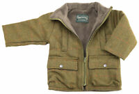 Boy's Childrens Tweed Coat for Ages 2-10 Years Fleece Lining Winter Jacket