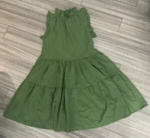 Green Lightweight Trapeze Style Summer Dress -Fits 12/14