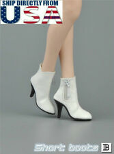 "1/6 Leather Ankle Boots B For 12"" PHICEN Hot Toys TBLeague Female Figure U.S.A."
