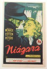 NIAGARA Rare 1953 MARILYN MONROE & JOSEPH COTTEN Film Noir SPANISH MOVIE HERALD