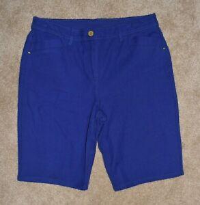 Womens Chicos Bermuda Shorts Sz 1 Blue Stretch 8