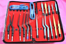 German Premium Stainles Bipolar Bayonet Forceps Electrosurgical Instruments Set