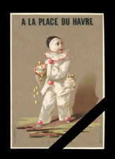 Victorian Trade Card: Original French Advertising -  Grands Magasins -Clown