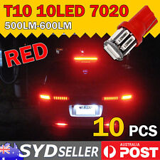 10x Brilliant Red T10 7020 SMD LED Interior Roof Dome Light Car Tail Parker Bulb