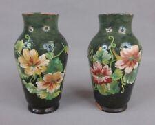 paire de petits vases en céramique Théodore Lefront dlg Montigny-Sur-Loing XIXe