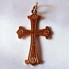 Kreuz Anhänger 585 Rotgold Kette Kreuz 585 Gold / CA 198