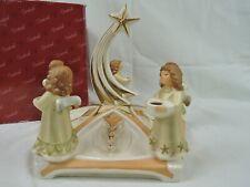 GOEBEL Adventskranz Kranz mit Engel Adventsleuchter 5 Engel + Sternschnuppe OVP