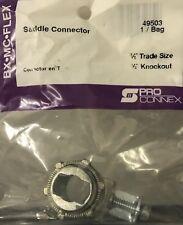"""2 Sigma / Pro Connex BX-MC-Flex Saddle Connectors 3/8"""" Trade Size 1/2"""" Knockout"""