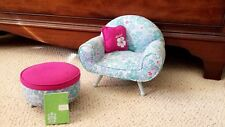 American Girl Doll Kanani Floral Chair Set