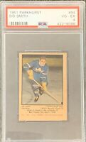 1951 1952 PARKHURST Sid Smith PSA 4 Very Good Excellent VG - EX #84 HOCKEY