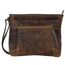 Greenburry Vintage Umhängetasche Leder 30 cm (brown)