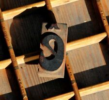 Letter Rare Wood Type Letterpress Printing Block Woodtype Font Antique Print