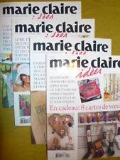 Lot de 4 revues Marie Claire Idées année 2003 n° 48/49/50/51