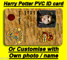Harry Potter Hogwarts Student ID card Or OWN name photo