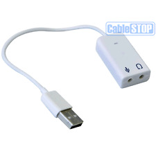 Sonido Usb Adaptador A 3.5 mm Mini Jack de audio y micrófono Micrófono Para Skype Pc Laptop