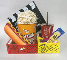 FAKE FOOD THEATER PROPS MOVIE SNACKS W/CLAPBOARD