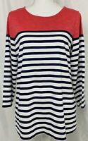 Coldwater Creek Women's 3/4 Sleeve Scoop Neck Top Shirt Size Medium