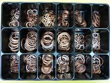 Unterlegscheiben Sortiment Dichtringe aus Kupfer 540 Stück