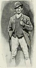 Sherlock Holmes uno scandalo in Boemia UBRIACO sposo SIDNEY Paget 7x5 pollici stampa