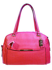 NWT Coach 30092 Madison Embossed Leather Georgie Satchel in Pink Ruby Color $458