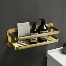 12 inch Aluminum Bathroom Accessories Organizer Brushed Gold Shelf Holder Case