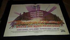 Village People Disco Land Rare Original Prerelease Movie Promo Poster Ad Framed!