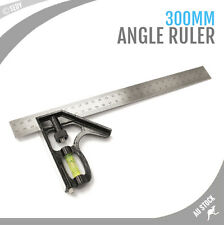 "12"" 300mm Combination Angle Square Type A Ruler Spirit Level Adjustable Measure"