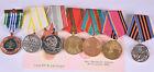 Russland Orden- Medaillen- Pins- Abzeichen- Konvolut- 7 Stück Sammlung auflösen