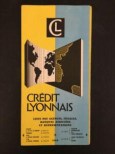 DEPLIANT PUBLICITAIRE CREDIT LYONNAIS 1959