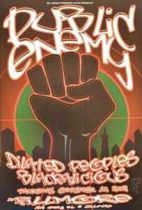 Public Enemy Concert Poster F539 Fillmore