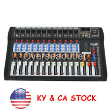 120S-USB 12 Channel Metal Mic/Line Live Studio Audio Mixer Mixing Console USB