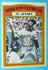 1972 Topps #310 ROBERTO CLEMENTE 42 yr old MINT PIRATES In Action Baseball Card!