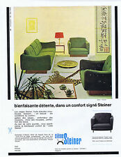 PUBLICITE ADVERTISING 054 1964 STEINER meuble fauteuil