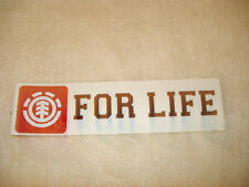 ELEMENT FOR LIFE OG ICON LOGO SKATEBOARD STICKER