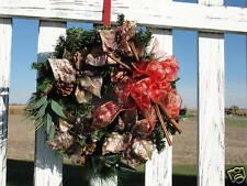 Copper Poinsettias Cinnamon Sticks Wreath Very Elegant Welcome Home Door Decor