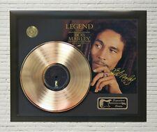 "Bob Marley Framed wood Reproduction Signature LP Record Display. ""M4"""