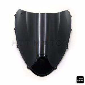 New Double Bubble Windscreen Windshield Shield for Ducati 848 1098 1198 Black
