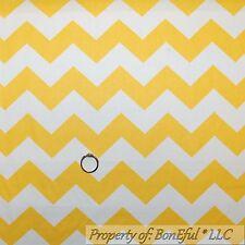 BonEful Fabric Cotton Quilt Yellow White CHEVRON STRIPE Unisex Baby Boy NR SCRAP