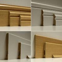 Clearance Oak Effect Laminate Wood Flooring Skirting Board Architrave 2.4M SALE!