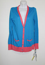 new prabal gurung for target medium pink blue cardigan sweater tunic color block