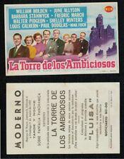 Año 1955. Programa publicitario de CINE. Título: LA TORRE DE LOS AMBICIOSOS.