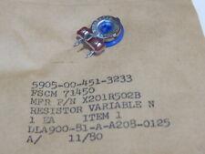 CTS X201R502B 5K OHM THUMB WHEEL TRIM RESISTOR VARIABLE 5905-00-451-3233