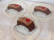 """DOROTHY THORPE ELAINE SIGNED 3 PC VINTAGE 7"""" DESSERT/CAKE PLATES"""