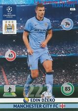 177 EDIN DZEKO MANCHESTER CITY.FC  CARD CHAMPIONS LEAGUE ADRENALYN 2015 PANINI