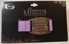 Disney The Little Mermaid Ariel Movie Quote - Purple Faux Leather Gold Bracelet