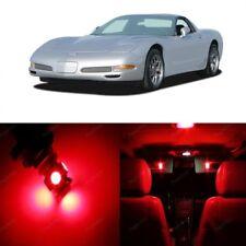 10 Red Led Interior Light Kit For 1997 2004 Chevy Chevrolet Corvette C5 Tool