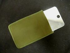 Vintage US Army Emergency Reflective Survival Signaling Mirror with Pocket