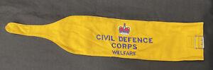 British Civil Defence Corps  Welfare Yellow Armband