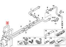 Genuine BMW E46 Estate Saloon Rear Brake Pipe OEM 34326754853