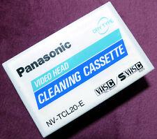 Panasonic VHS-C SVHS C Trocken Reinigungskassette, Reinigungscassette NEU in OVP